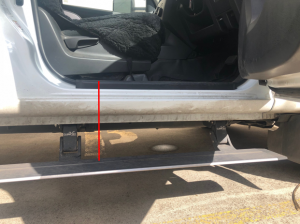 step distance from van door