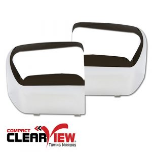 Compact Mirrors:  Chrome Cap Covers